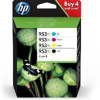 Pack Cartouches HP 953XL Pack de 4 Cartouches d'encre 3HZ52AE - Pour HP OfficeJet Pro 8710-8715-8720 - Cyan. magenta. jaune et noir