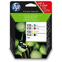 Pack Cartouches XL Pack de 4 cartouches Jet d'encre - Grande capacite - Imprimantes HP Office Jet 6230 ePrinter6830 - NoirCyanMagentaJaune