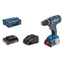 Pack De Machines Outil BOSCH Perceuse-visseuse sans fil - 2x GBA 18V 2Ah - Chargeur AL 1820 - Coffret L-BOXX 136 - Bleu