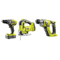 Pack De Machines Outil Combo 3 Outils Sans Fil 18 Volts + Batterie 2 Ah RYOBI