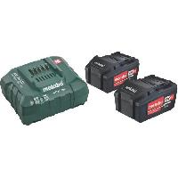 Pack De Machines Outil METABO Pack energie - 2 x 5.2 Ah + chargeur ASC 30-36