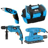 Pack De Machines Outil WORK Coffret perceuse + tournevis + ponceuse