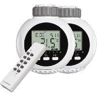 Pack Domotique Kit de 2 valves thermostatiques avec telecommande 4 canaux SHS-53002-EU