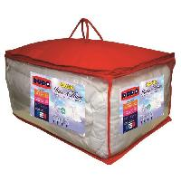 Pack Linge De Lit Pack Anti-acariens Reves d'hiver - 1 couette 200x200 cm + 1 oreiller 60x60 cm blanc