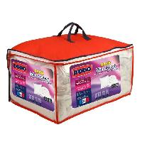Pack Linge De Lit Pack Microtouch - 1 couette 200x200 cm + 1 oreiller 60x60 cm - Blanc