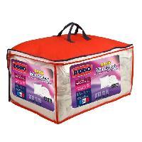 Pack Linge De Lit Pack Microtouch - 1 couette 240x260 cm + 2 oreillers 60x60 cm - Blanc