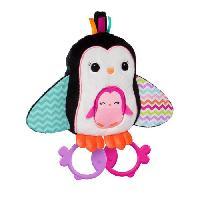 Pack Materiel Eveil BRIGHT STARTS Peluche Cuddle & Teethe Penguins Multicolore