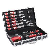 Pack Petits Appareils De Cuisson GS64 Coffret pour barbecue a 15 accessoires - Noir