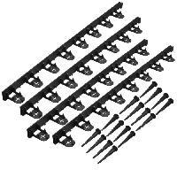 Paillage - Voile - Protection Culture NATURE Bordure a gazon en polypropylene et polyéthylene - 16 ancres - H 4.5 x (4 x L100) cm - Noir