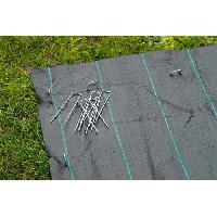 Paillage - Voile - Protection Culture NATURE Lot de 10 agrafes métalliques pour fixation au sol - Ø 3 mm / H 14 x 3 cm