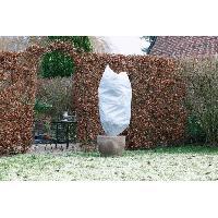 Paillage - Voile - Protection Culture NATURE Lot de 3 housse d'hivernage 50 g/m² - Ø 50 cm x 1 m - Blanc