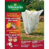 Paillage - Voile - Protection Culture VILMORIN 2 Housses d'hivernage 30 g / m² blanc - l 1.60 x L 1.60 m