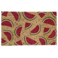 Paillasson - Decrottoir Paillasson Pasteque - Fibre de coco - 26x76x2cm