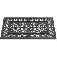 Paillasson - Decrottoir Paillasson a motifs - 45x75 cm - Style Classique - Coloris Noir
