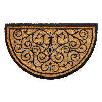Paillasson - Decrottoir Paillasson a motifs - 45x75 cm - Style Classique - Coloris naturel