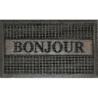 Paillasson - Decrottoir Tapis d'entree 45x75cm bonjour noir