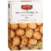 Pain ERIC BUR Mini Toast Céreales Biscuit Bio 150g