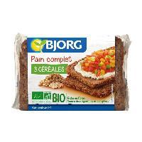 Pain Precuit BJORG Pain Complet 3 Cereales Bio 500g