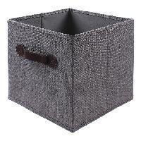 Panier - Casier - Corbeille - Tiroir - Porte Pour Meuble A Case CASAME Cube en Linen - 28 x 28 x 5 cm - Gris - Cartamundi