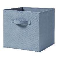 Panier - Casier - Corbeille - Tiroir - Porte Pour Meuble A Case CASAME Cube pliable en intissé - 28 x 28 x 5 cm - Bleu canard - Cartamundi