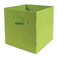 Panier - Casier - Corbeille - Tiroir - Porte Pour Meuble A Case CASAME Cube pliable en intissé - 28 x 28 x 5 cm - Vert - Cartamundi