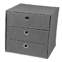 Panier - Casier - Corbeille - Tiroir - Porte Pour Meuble A Case Cube de rangement intissé 3 tiroirs 31x29x31 cm Gris - Generique