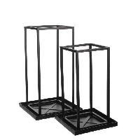 Panier - Casier - Corbeille - Tiroir - Porte Pour Meuble A Case EDELMAN Goa photophore Metal - L33 x l33 x H57.5 cm - Generique
