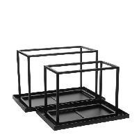 Panier - Casier - Corbeille - Tiroir - Porte Pour Meuble A Case EDELMAN Goa photophore Metal - L57.5 x l33 x H37 cm - Generique