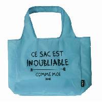 Panier - Sac De Plage 5 Sacs pliables reutilisables 12L Bleu