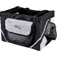 Panier - Sac De Transport Box avant pour velo pour petit chien - 38x25x25cm noir gris Trixie