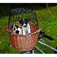 Panier - Sac De Transport Panier velo avec grille pour chien