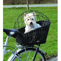 Panier - Sac De Transport TRIXIE Panier de transport osier avec grille pour velo - Noir - Pour chien