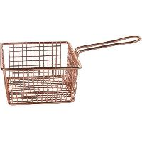 Panier De Cuisson - Filet De Cuisson - Papillote COSY & TRENDY Panier de Frites Cuivre Plaque 14x14x7.4 Cosmetic Wear
