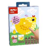 Papier - Cahier - Carnet APLI Mini kit mosaique Animaux de la ferme - En mousse