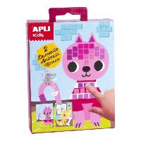 Papier - Cahier - Carnet APLI Mini kit mosaique Animaux domestiques - En mousse