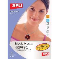 Papier - Cahier - Carnet APPLI Pochette de 4 feuilles de Plastique magique