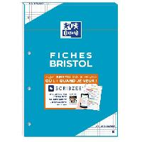 Papier - Cahier - Carnet Bloc bristol 2.0 OXFORD perfore a4 30 fiches 210g quadrille 5mm