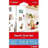 Papier - Cahier - Carnet CANON Papier Photo magnétique 10x15cm MG-101 670gr 5 feuilles