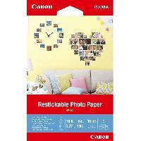 Papier - Cahier - Carnet CANON Papier Photo repositionnable 10x15cm RP-101 260gr 5 feuilles