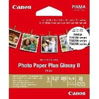 Papier - Cahier - Carnet CANON Papier photo 9x9cm PP-201 Glacé 265gr 20 feuilles
