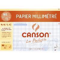 Papier - Cahier - Carnet CANSON Pochette papier millimétré 12 feuilles A4 - 90 g - Bleu