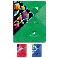Papier - Cahier - Carnet CLAIREFONTAINE - Cahier Travaux Pratiques piqûre - 17 x 22 - 120 pages Seyes + uni - Couverture pelliculée - 3 couleurs aléatoires
