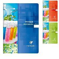 Papier - Cahier - Carnet CLAIREFONTAINE - Cahier Travaux Pratiques piqure - 21 x 29.7 - 120 pages Seyes + uni - Couverture pelliculee - 3 couleurs aleatoires