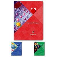 Papier - Cahier - Carnet CLAIREFONTAINE - Cahier Travaux Pratiques piqûre - 24 x 32 - 120 pages Seyes + uni - Couverture pelliculée - 3 couleurs aléatoires