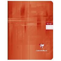 Papier - Cahier - Carnet CLAIREFONTAINE - Cahier piqûre - 17 x 22 - 96 pages Seyes - Papier P.E.F.C 90G - Couleur rouge