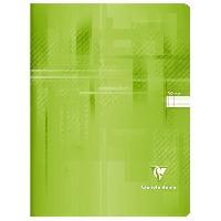 Papier - Cahier - Carnet CLAIREFONTAINE - Cahier piqûre - 24 x 32 - 96 pages Seyes - Couverture pelliculée - Couleur bleu