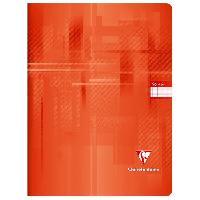 Papier - Cahier - Carnet CLAIREFONTAINE - Cahier piqûre - 24 x 32 - 96 pages Seyes - Couverture pelliculée - Rouge