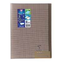 Papier - Cahier - Carnet CLAIREFONTAINE - Cahier piqûre KOVERBOOK - 21 x 29.7 - 96 pages Seyes - Couverture Polypro translucide - Couleur marron
