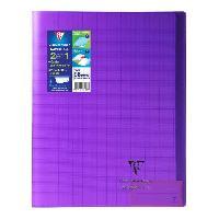 Papier - Cahier - Carnet CLAIREFONTAINE - Cahier piqûre KOVERBOOK - 24 x 32 - 96 pages Seyes - Couverture Polypro translucide - Violet