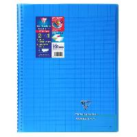 Papier - Cahier - Carnet CLAIREFONTAINE - Cahier reliure avec rabats KOVERBOOK - 24 x 32 - 160 pages Seyes - Couverture polyproplylene translucide - Bleu